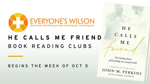 He Calls Me Friend Book Reading Clubs Event Image